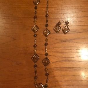 Jewelry - Necklace and Earrings Set - Great for Fall/Winter!